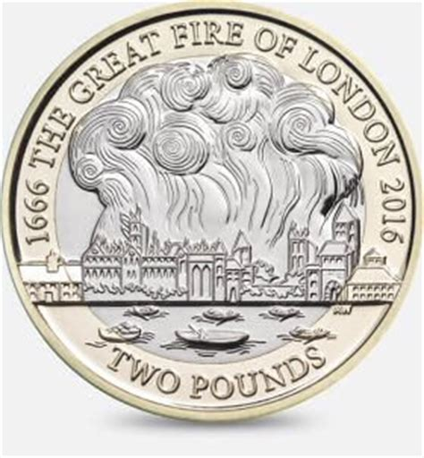 value for great fire of london 2 pound coin. is it rare