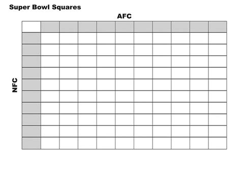 printable superbowl squares template printable football squares kiddo shelter