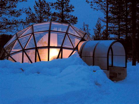 finland northern lights igloo glass igloo hotel kakslauttanen travel destination