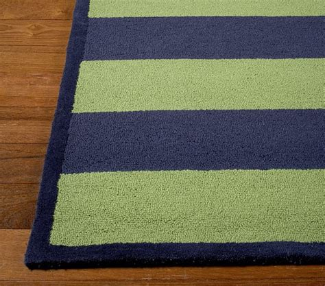 Navy And Green Rugs by Green Navy Rugby Stripe Rug Swatch Pottery Barn
