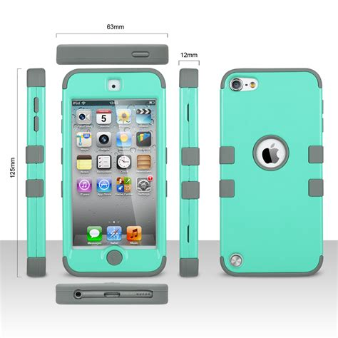 ipod touch rugged for ipod touch 5 6th impact heavy duty shockproof rubber rugged cover ebay