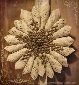 vintage christmas sheet music the handmade card blog
