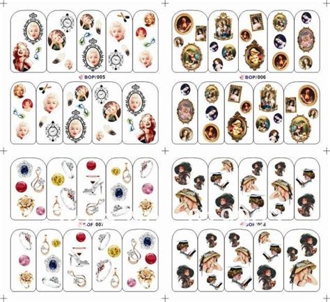 printable nail art stickers 100 sheets nail art water transfer decal stickers print