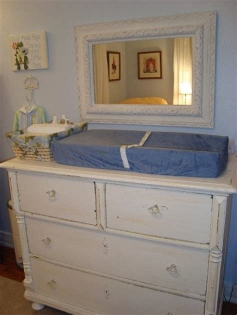 Used Changing Tables Antique White Chest Of Drawers Used As A Changing Table Eclectic Nursery Other Metro By