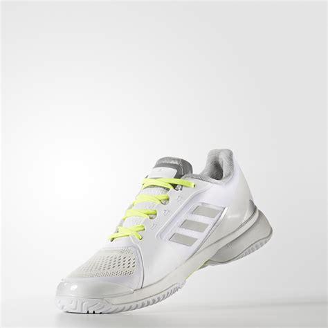 adidas womens smc barricade  tennis shoes white
