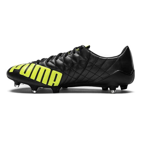 evospeed sl leather fg mens football boots black