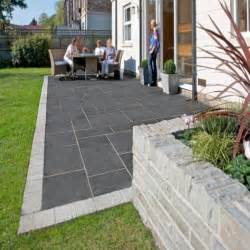 patio slabs kotah black indian limestone calibrated patio