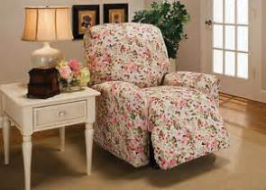 Chair Slipcover Pattern Floral Jersey Recliner Stretch Slipcover Furniture Couch