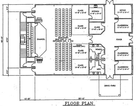 floor plan of church church floor plans home design