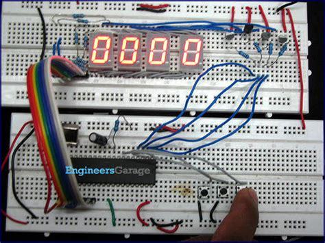 8051 microcontroller at89c51 based stopwatch