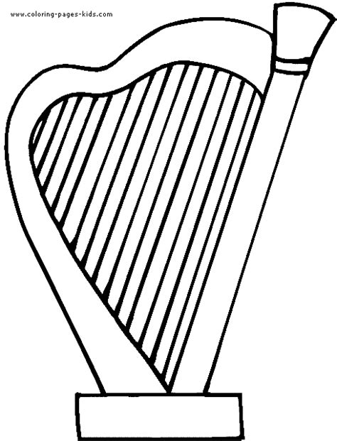 free harps drawings coloring pages