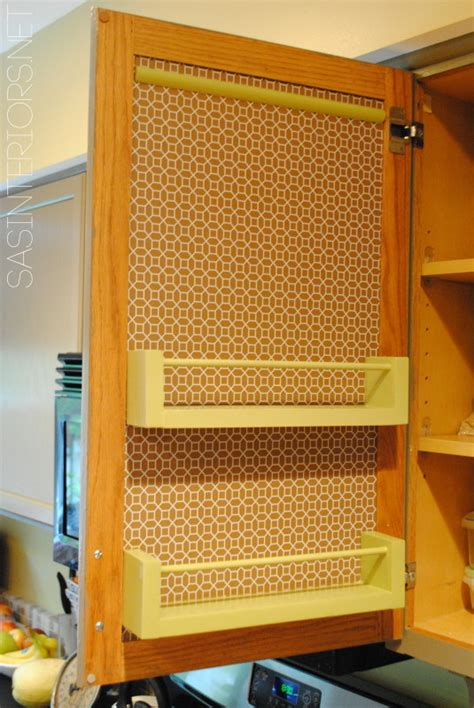 Kitchen Cabinet Door Storage Racks Kitchen Organization Ideas For The Inside Of The Cabinet Doors Burger