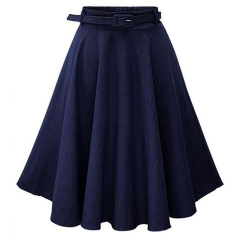 High Waist Pleated Dress vintage fashion high waist skater flared pleated
