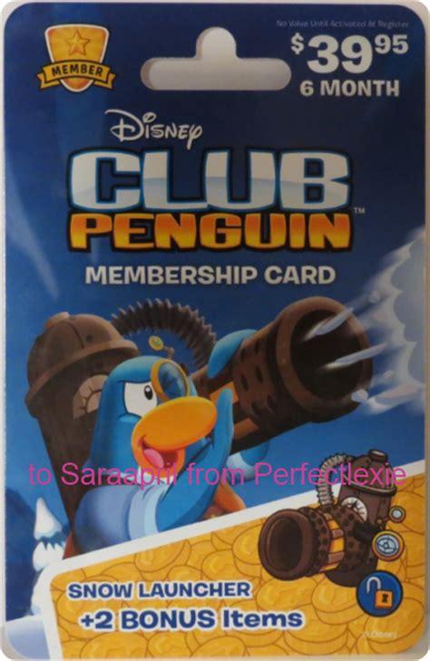 Club Penguin Membership Gift Card - saraapril in club penguin club penguin snow launcher membership card