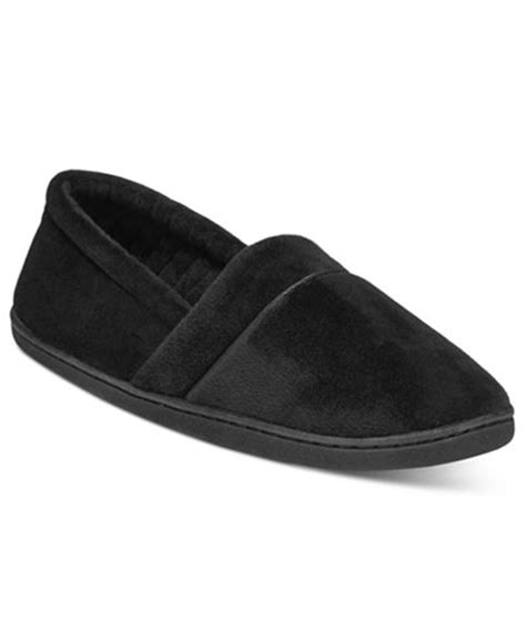 macys womens house slippers charter club microvelour memory foam slippers created for