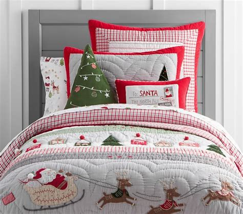 pottery barn toddler bedding north pole quilted bedding pottery barn kids