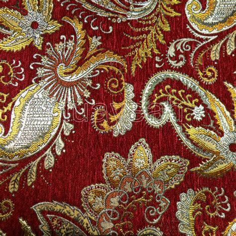 Upholstery Velvet Fabric Wholesale Vintage Design Chenille Jacquard Fabric