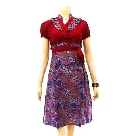 Dress Bunga Rempel Pita Depan 1 pin by podjok batik on dress batik wanita