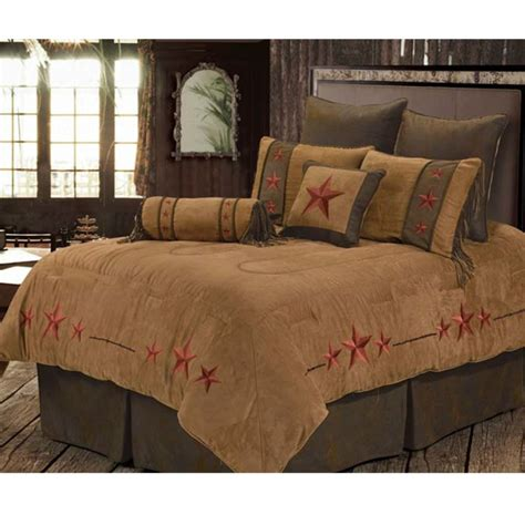 Red Triple Star Western Bedding Comforter Set