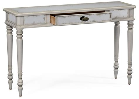 painted sofa tables grey painted and eglomise console table