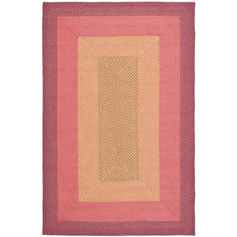 4 ft area rugs safavieh braided multi 4 ft x 6 ft area rug brd165a 4 the home depot