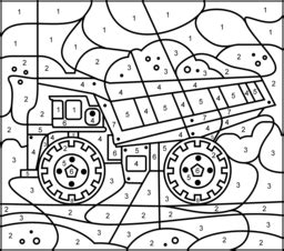 truck color by number coloring pages truck coloring page printables apps for kids
