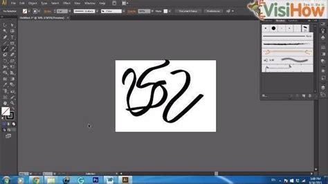 line art tutorial illustrator cs6 make a calligraphic brush in adobe illustrator cs6 visihow