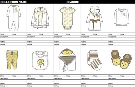 line sheet template tech sheet template images