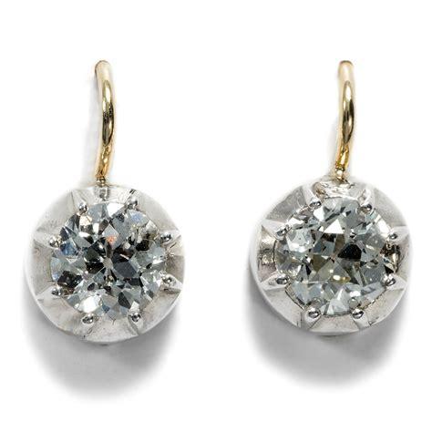 Ohrringe Diamant by Antike Diamant Ohrringe Mit 2 35 Ct Brillanten In Silber