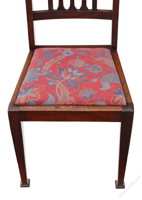 Dining Chair Sets Of 6 Set Of 6 Mahogany Dining Chairs Nouveau C1915 Antiques Atlas