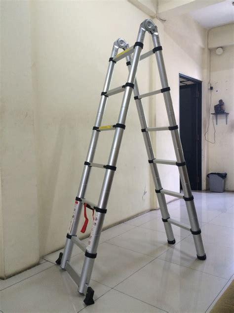 Tangga Alumunium Ladder 3 8 M Tangga Telescopic fortuna jaya tangga aluminium murah jual tangga