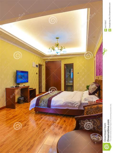 bedroom in business hotel stock image image of color