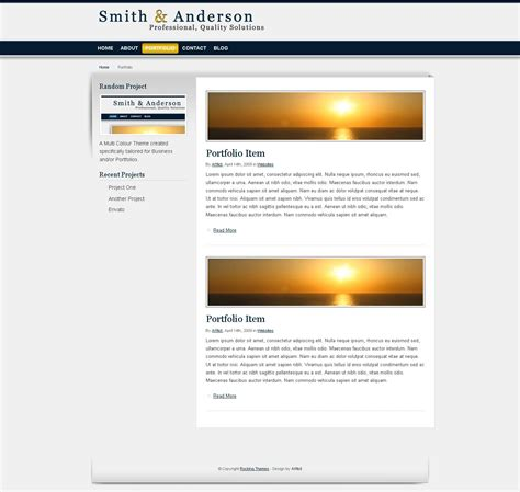 business portfolio template smith business portfolio template by