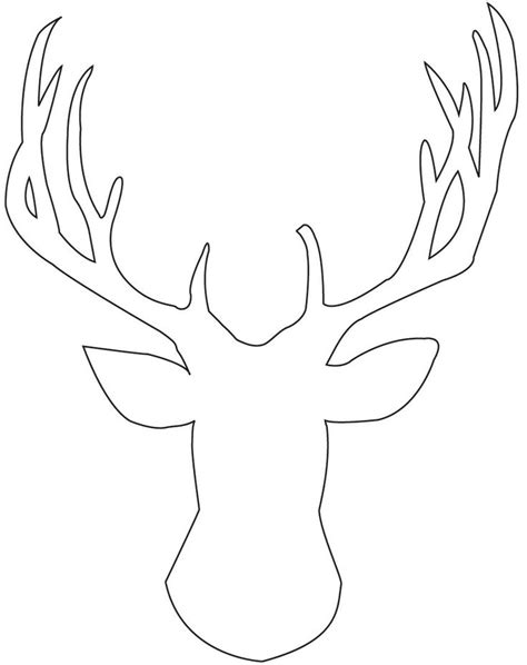 reindeer template printable deer stencil cliparts co