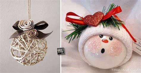 Shabby Chic Christmas Decorations Palline Di Natale Originali 20 Idee Per Decorare L Albero