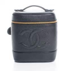 Chanel Vanity Bag by Chanel Caviar Cosmetic Vanity Bag Black 46927