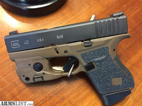 light for glock 43 armslist for sale new fde glock 43 with extras