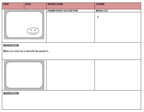 38 Free Storyboard Templates Ms Word Ms Powerpoint Templatehub Storyboard Template Microsoft Word
