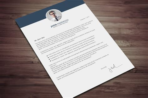 creative resume cv template cover letter