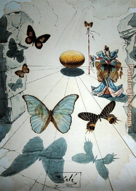 butterflies painting by salvador dali butterflies