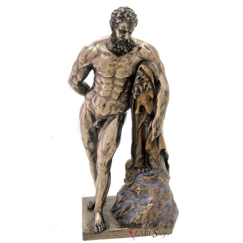 greek god statue hercules famese bronze statue