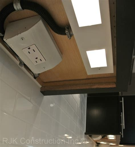 hidden electrical outlets Kitchen with none