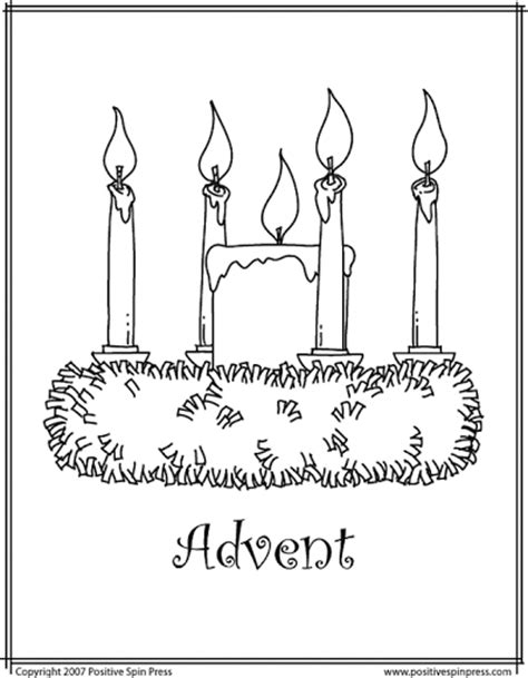 coloring page for advent wreath wre advent clipart clipart suggest