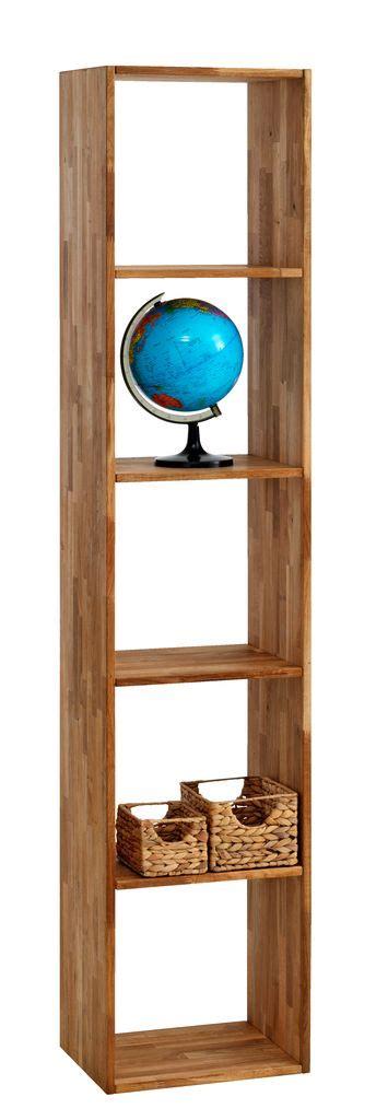 Shelving unit stouby 5 shelves oak jysk
