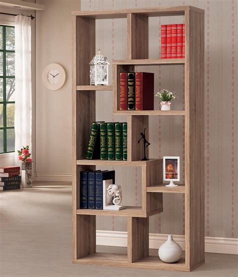 open back bookshelves pflugerville furniture center geometric open backed bookcase