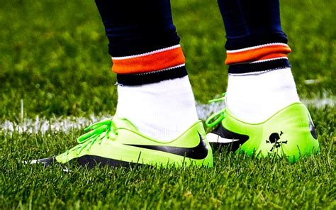 football player shoes look nfl fines brandon marshall 10 500 for green shoes