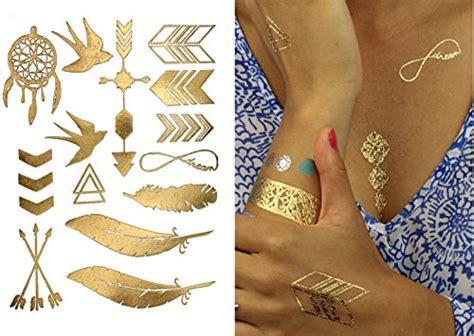 Dijamin Non Toxic Premium Quality Temporary 14 terra tattoos metallic tattoos 75 jewelry inspired