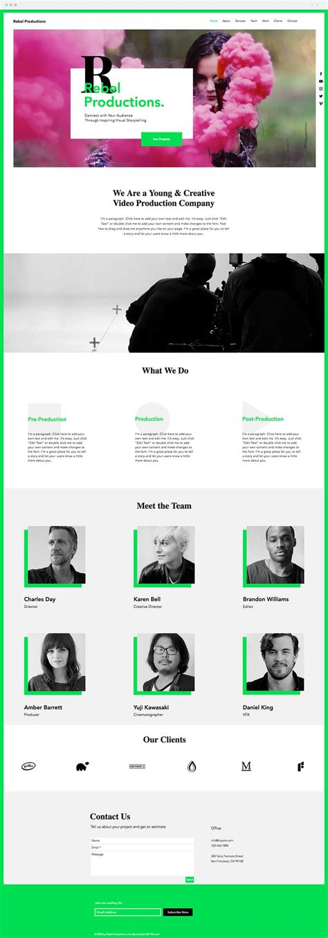 680 Best Wix Website Templates Images On Pinterest Wix Production Template