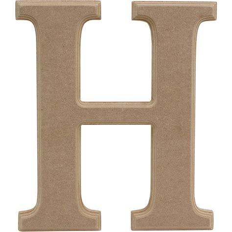 Wooden Letter H 27 Cm | Hobbycraft H