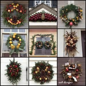 eab designs colonial williamsburg christmas wreaths